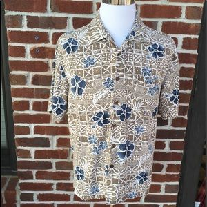 HAVANA JACK'S CAFE FLORAL CASUAL BUTTON DOWN SHIRT